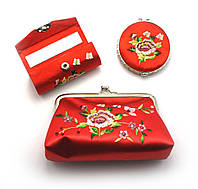 Подарочный набор (Зеркальце,косметичка,футляр для помады)(19х19х4,5 см)