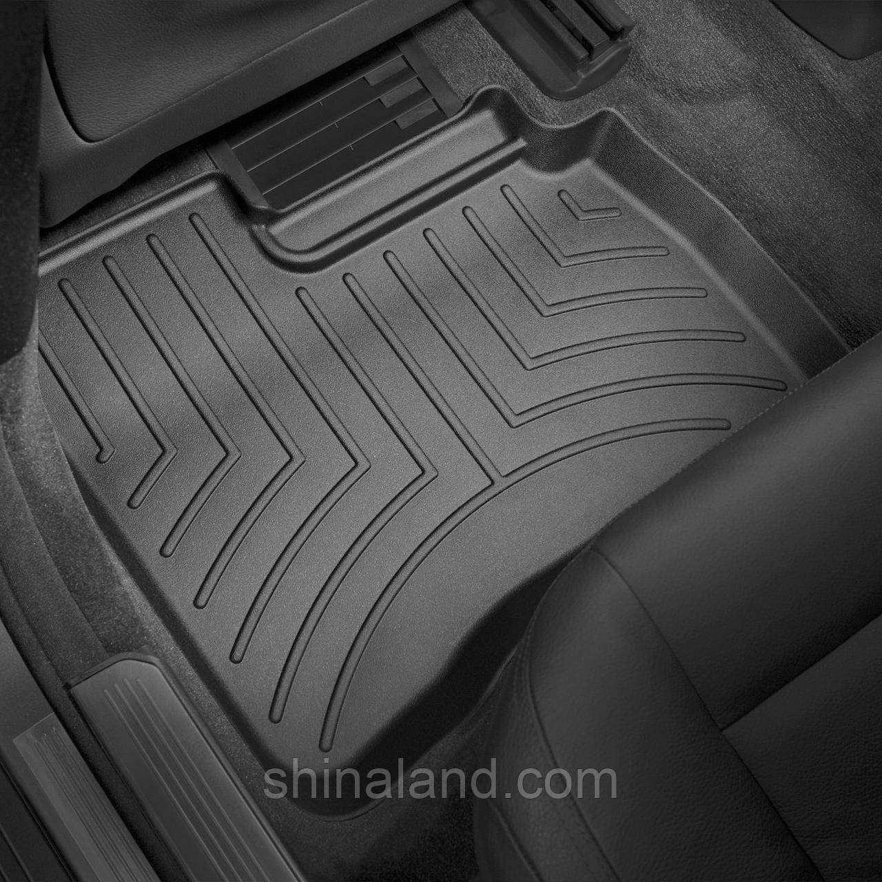 Коврики в салон Mercedes-Benz S-class (W221) (короткая база) 2005 - 2013 черные, Tri-Extruded (WeatherTech) - второй ряд