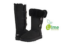 Сапоги зимние UGG Bailey Button Triplet Black