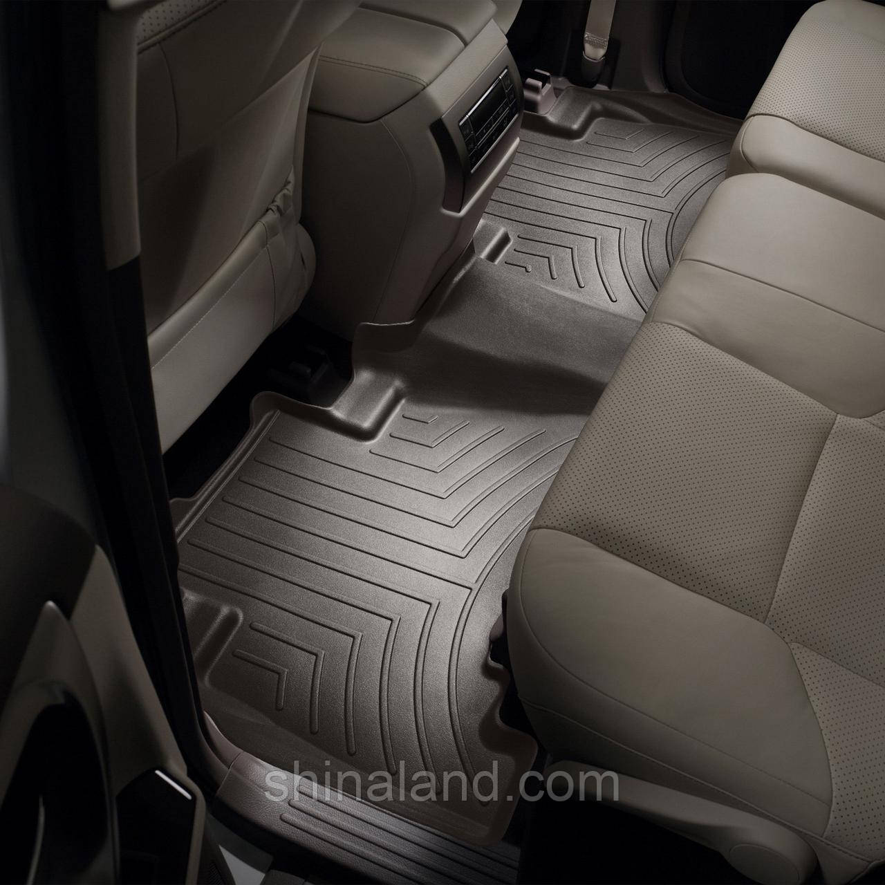 Коврики в салон Toyota Land Cruiser Prado IV (J150) / Lexus GX II 460 (J150) 2009 - 2019 какао, Tri-Extruded (WeatherTech) - второй ряд