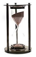 Часы песочные бронза (14,5х7х7 см)(Brass Sandtimer)