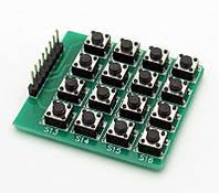 Кнопочная клавиатура, 4х4 матрица, для Arduino