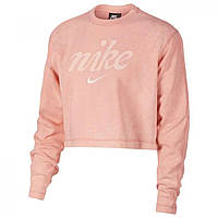 Толстовка Nike Washed Crop Sweatshirt Pink - Оригинал