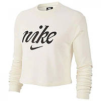 Толстовка Nike Washed Crop Sweatshirt Ivory - Оригинал