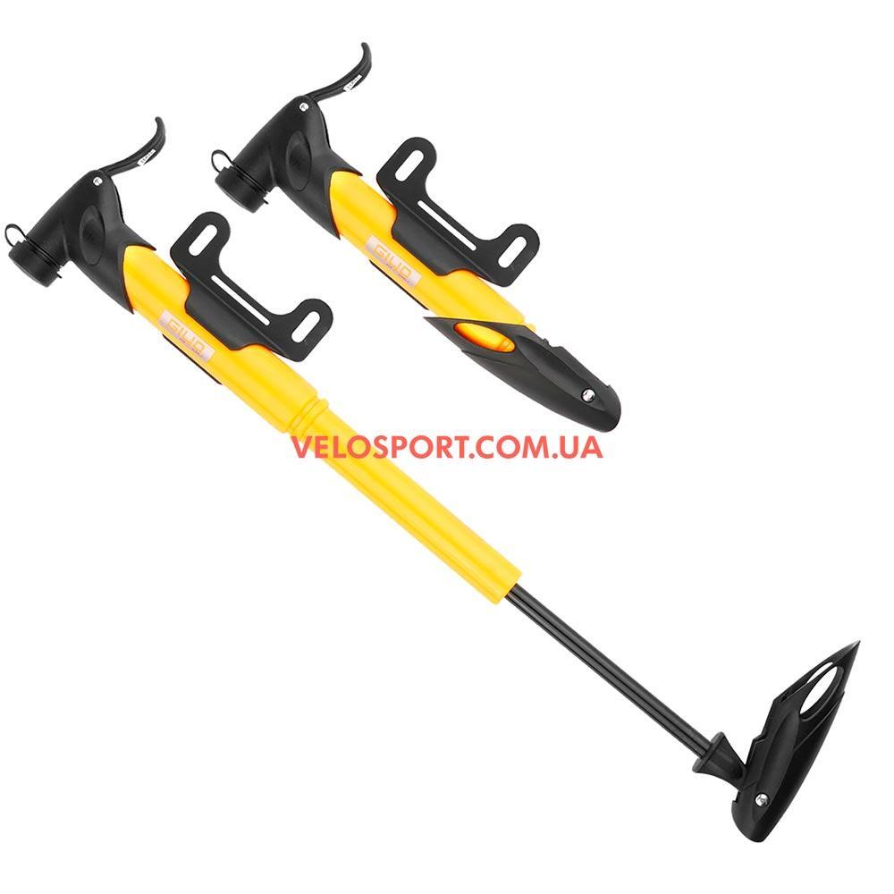 Портативний насос GIYO GP-77 T-ручка для велосипеда жовтий