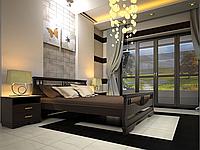 Кровать из натурального дерева Атлант 3