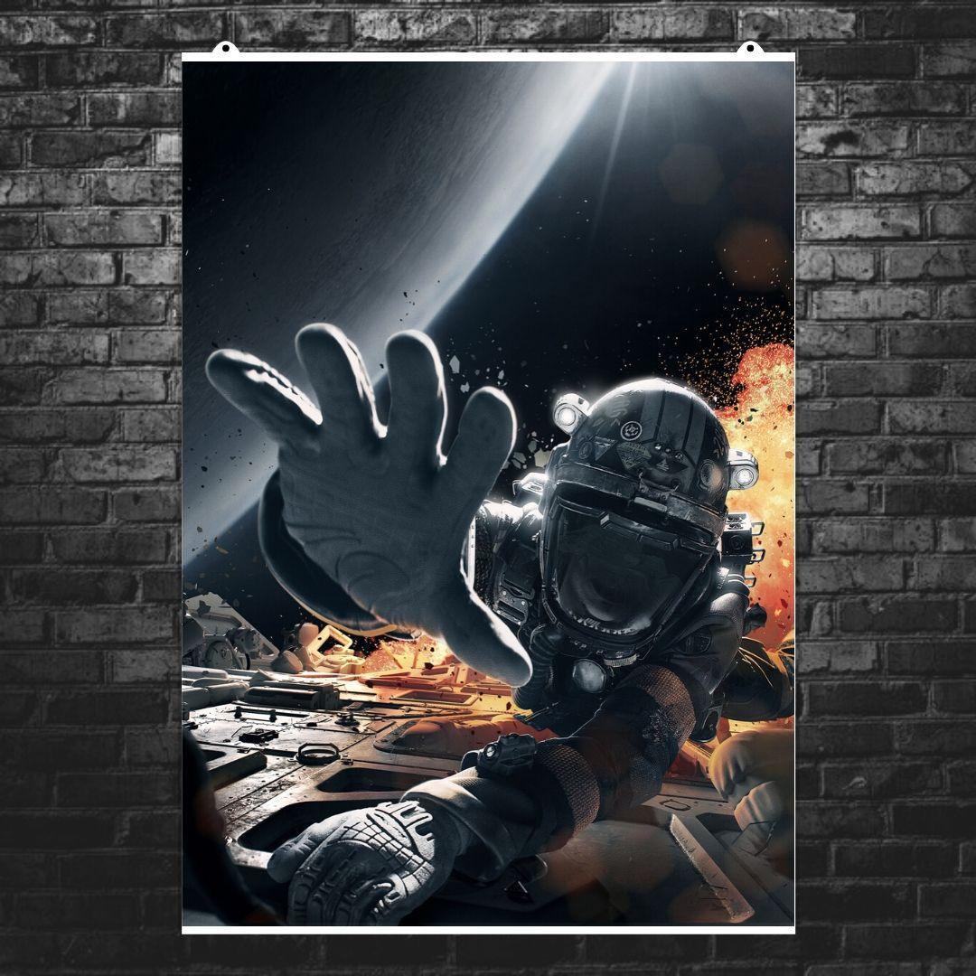 """Постер """"The Expanse. Взрыв в космосе"""", сериал. Размер 60x43см (A2). Глянцевая бумага"""