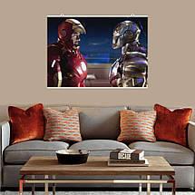 """Постер """"Железный Человек и Воитель"""". Iron Man, WarMachine. Размер 60x42см (A2). Глянцевая бумага, фото 3"""