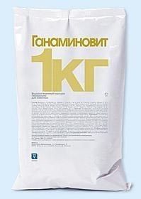 Ганаминовит 25 кг порошок INVESA (Іспанія) водорозчинний полівітамінний препарат для тварин та птиці