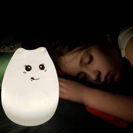 Ночник «Котик с язычком» 3DTOYSLAMP, фото 2