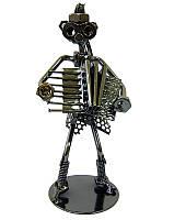"""Техно-арт """"Дама с баяном"""" металл (18,5х8х7,5 см)(C32)"""