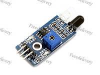 Оптический ИК датчик обхода препятствий, Arduino