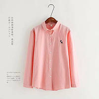Стильная однотонная рубашка, 4 цвета, фото 1