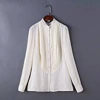 Стильная белая блузка , фото 1