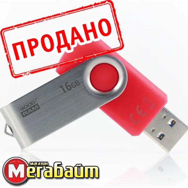 Flash drive USB3.0 16GB GOODRAM UTS3 (Twister) Red (UTS3-0160R0R11)