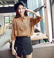 Модна сорочка з бахромою, фото 1