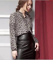 Стильная леопардовая блузка