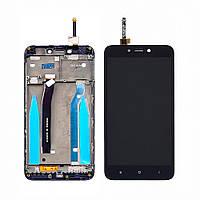 Дисплей  для Xiaomi  Redmi 4X с чёрным тачскрином и корпусной рамкой