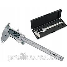 Штангенциркуль электронный, l = 150 мм, точн. +- 0,03 мм YATO YT-7201, фото 3