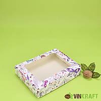 "Коробка 192*148*40 для пряника с окном ""Бабочки"""