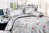 """Семейное постельное белье евро-размер с двумя пододеяльниками (13722) хлопок """"Ранфорс"""" KRISPOL Украина"""