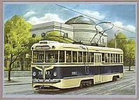 Почтовая карточка Трамвай КТВ - 55 - 2