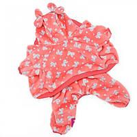Костюм для собак ForMyDogs бантики Розовый с белым (FW617)