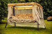 Качели садовые «Варна» (тафтинг), ткань с1103
