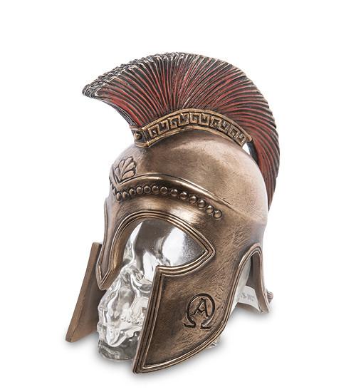 Статуетка Veronese Спартанський шолом на скляному черепі 14 см 1906350