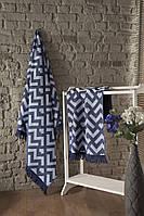 Набор полотенец  для сауны Luxury Jacquard Judy Lacivert Турция