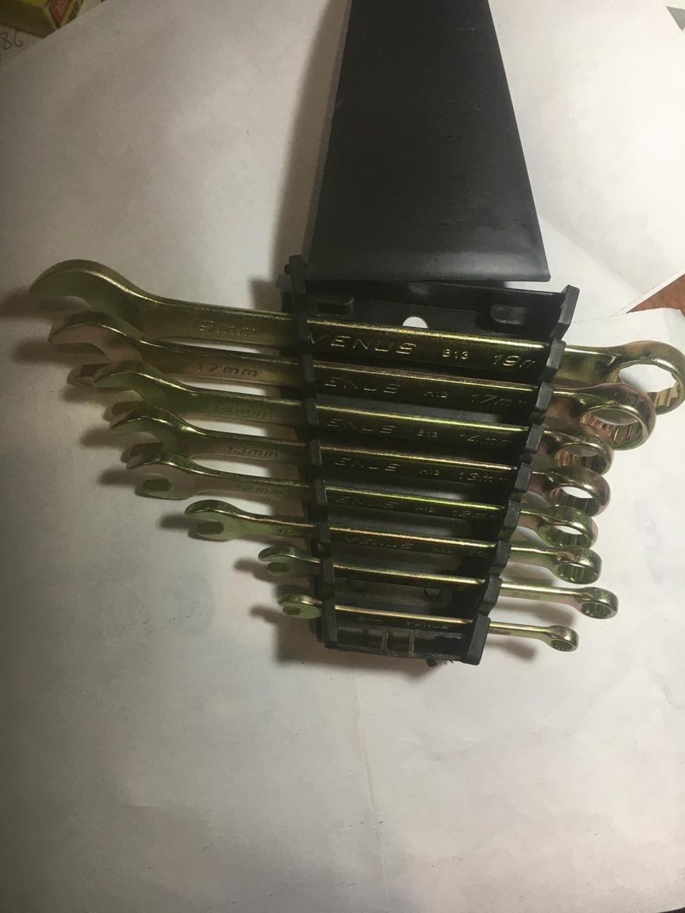 Набір комбінованих ключів 12 шт. (Оцинковані)