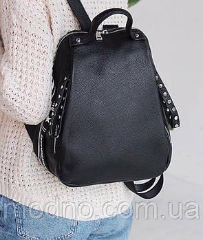Жіночий стильний шкіряний повсякденний рюкзак