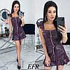 Платье женское из эко-кожи (3 цвета) ЕФ/-491 - Бордовый