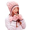 Жіноча зимова шапка з рукавичками Veno синя, фото 4