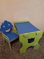 Стульчик Тучка(с подлокотником) и парта- столик детский из фанеры (дерево), конструкт.
