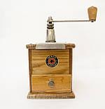 Старая ручная механическая деревянная кофемолка, Германия, Mokka D.R.P. Muhl GESTO, фото 2