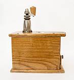 Старая ручная механическая деревянная кофемолка, Германия, Mokka D.R.P. Muhl GESTO, фото 3