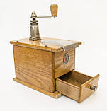 Старая ручная механическая деревянная кофемолка, Германия, Mokka D.R.P. Muhl GESTO, фото 7