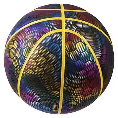 Мяч баскетбольный радужный голографическое покрытие Molten PU размер 7, фото 2