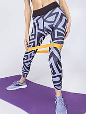 Костюм для фитнеса «Геометрия» серый, фото 3