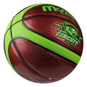 Мяч баскетбольный Movemen PU размер 7 Circuit салатовый