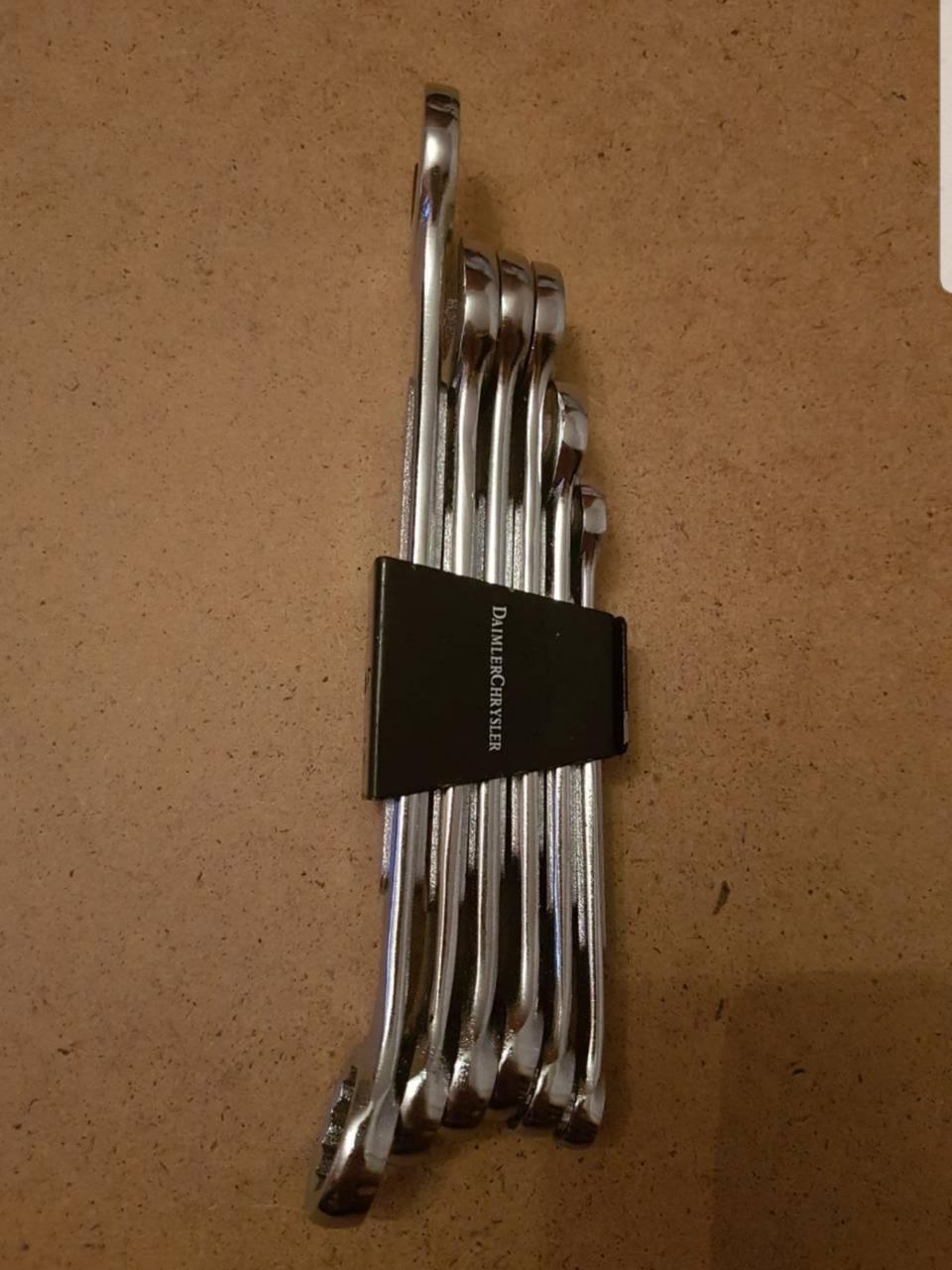 Набор комбинированных ключей 6 шт.( Хромовые)
