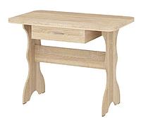 Стол кухонный простой с ящиком Дуб сонома