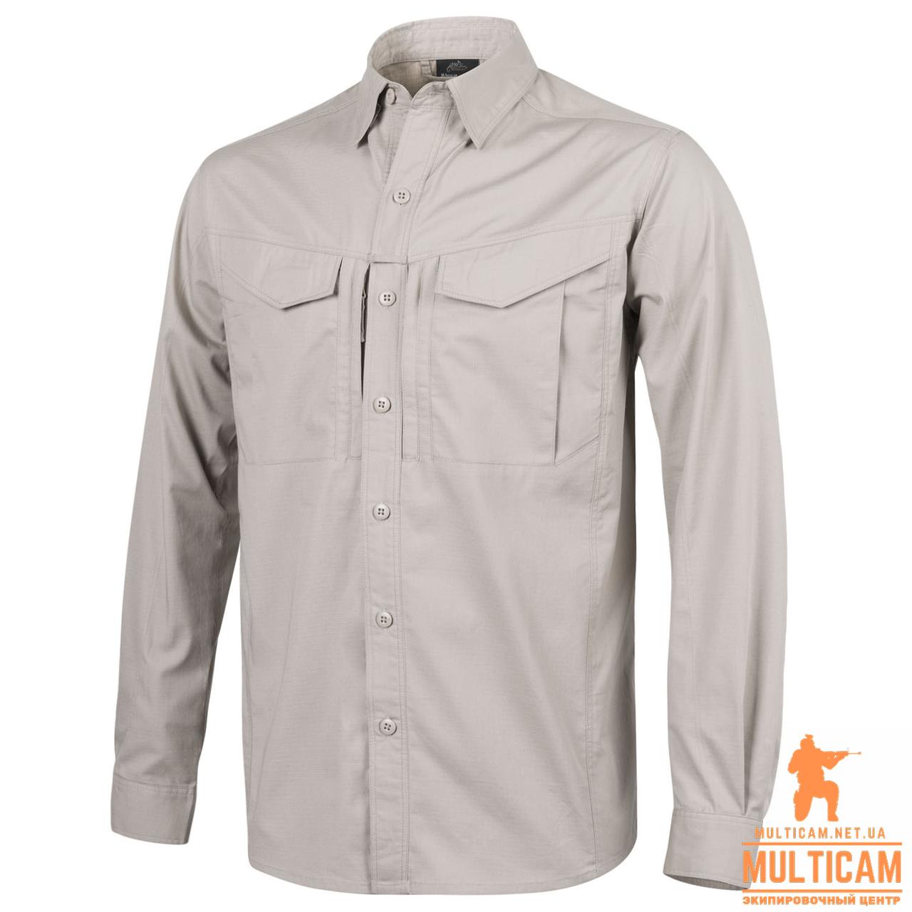 Рубашка Helikon-Tex® DEFENDER Mk2 Shirt long sleeve® - PolyCotton Ripstop - Khaki