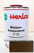 Концентрат красителя P35 Каштан  Герлак (Herlac) - для подкрашивания лаков (лютофен), 1л, Германия