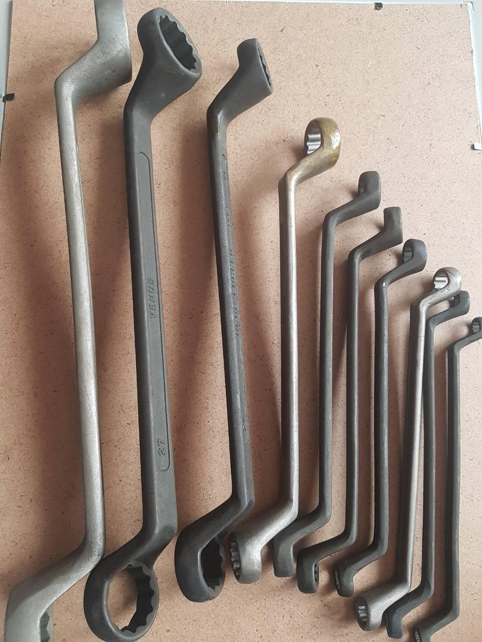Набор ключей Накидных 8 шт.( Хромовые)