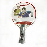 Ракетка для настольного  тенниса в чехле 1 штука  DONIC +6 мячиков, фото 2