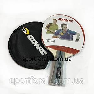 Ракетка для настільного тенісу в чохлі 1 штука DONIC +6 м'ячиків