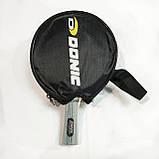 Ракетка для настольного  тенниса в чехле 1 штука  DONIC +6 мячиков, фото 3
