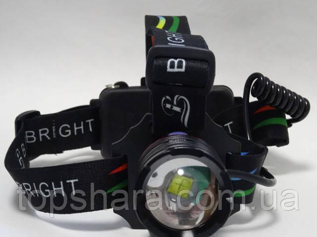 Налобний фонарь Police P52 на діоді XHP50 (zoom, Micro USB зарядка)